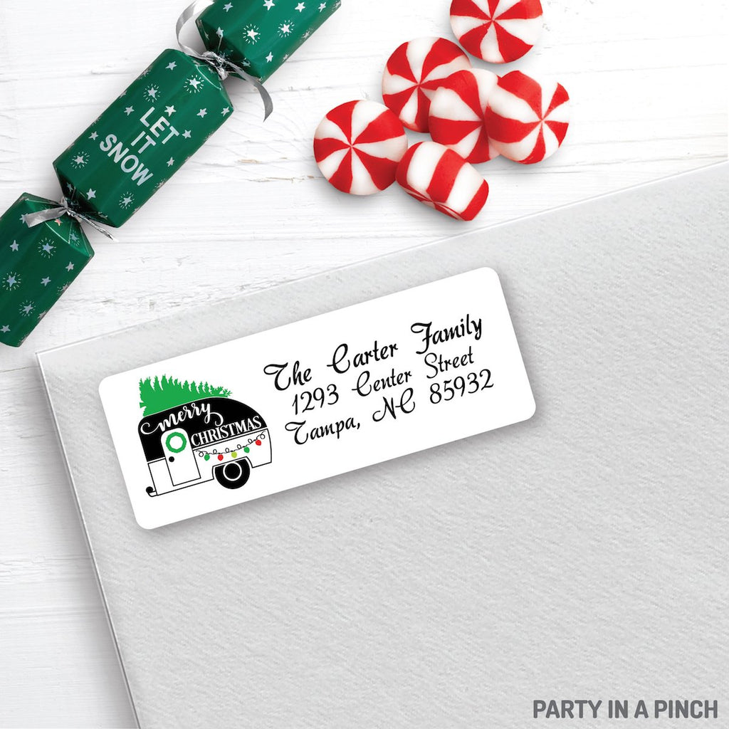 Christmas Camper Address Labels| Personalized