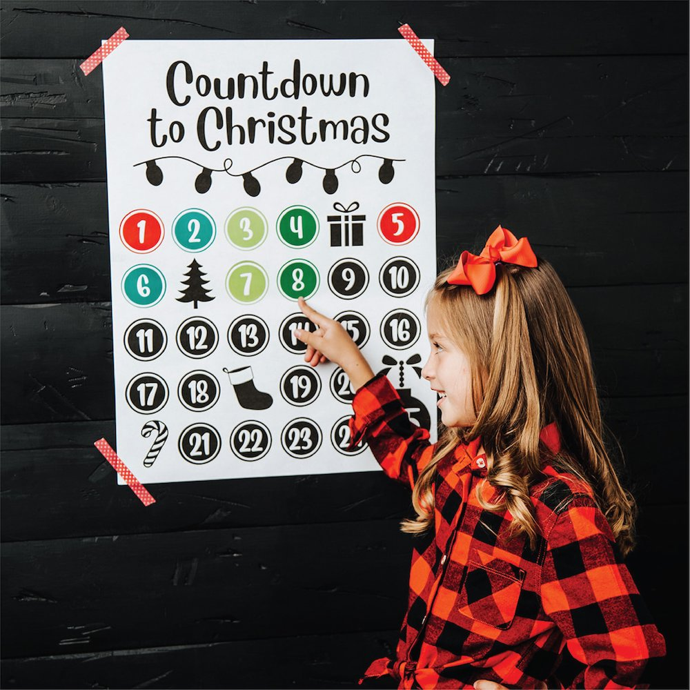 Christmas Countdown Poster and Stickers