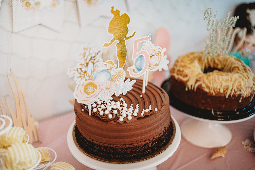 Golden Mermaid Cake Topper| Mermaid Party| Mermaid Cake Topper