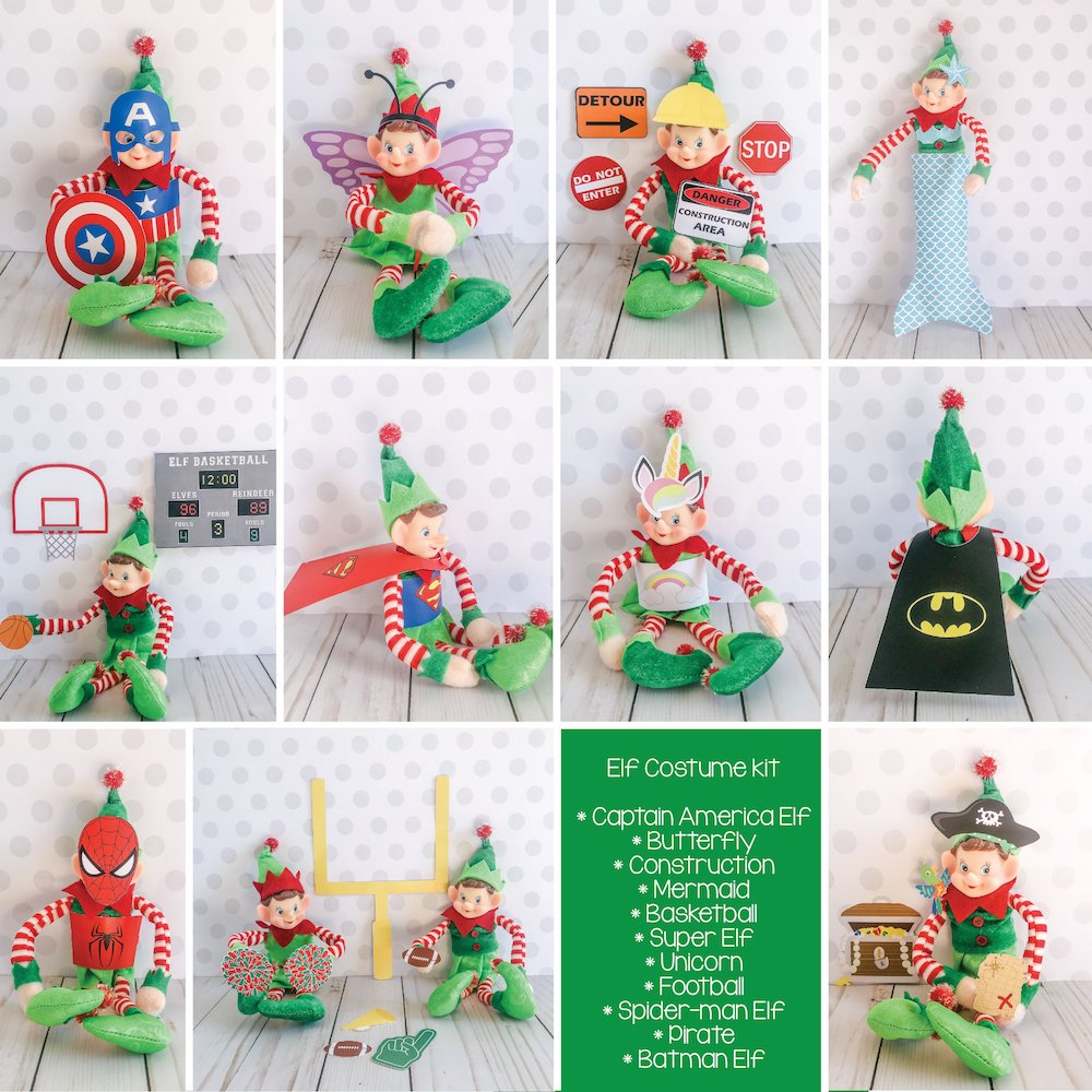 Christmas Elf  Costume Kit, Elf Printable, Instant Download