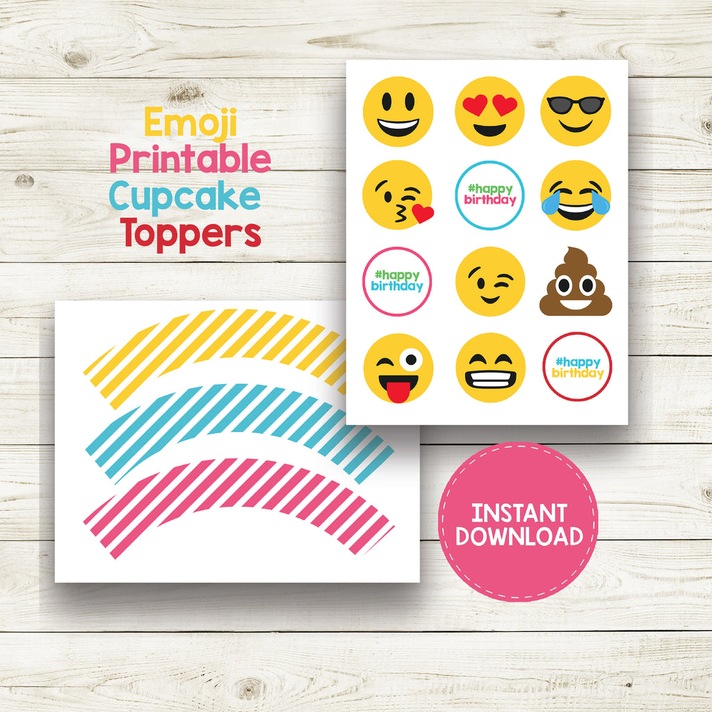 "EMOJI BIRTHDAY 2"" CIRCLE AND WRAPS