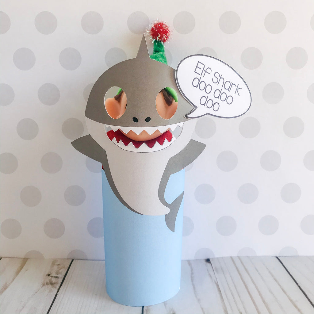 Christmas Elf Shark Kit, Elf Printable, Instant Download