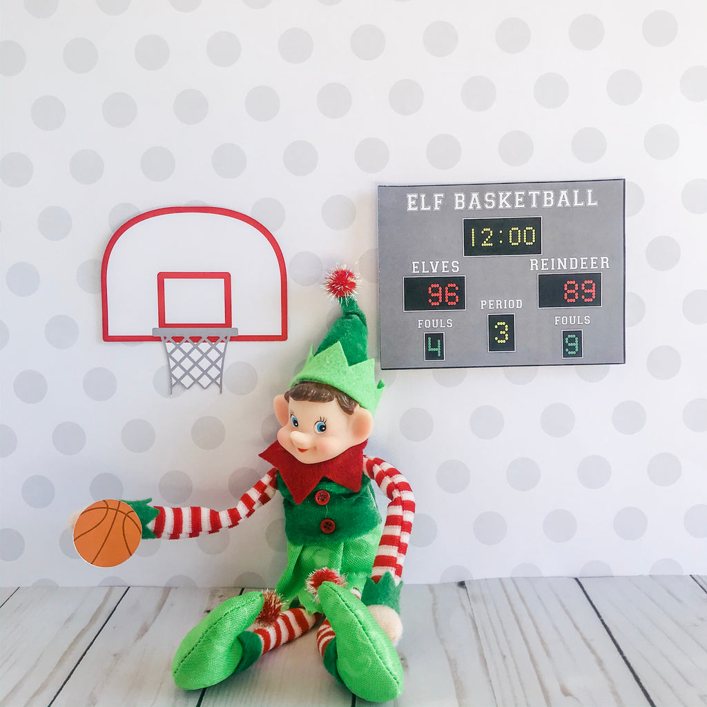 Christmas Elf Basketball Kit, Elf Printable, Instant Download