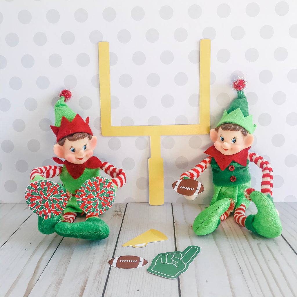 Christmas Elf Football Kit, Elf Printable, Instant Download