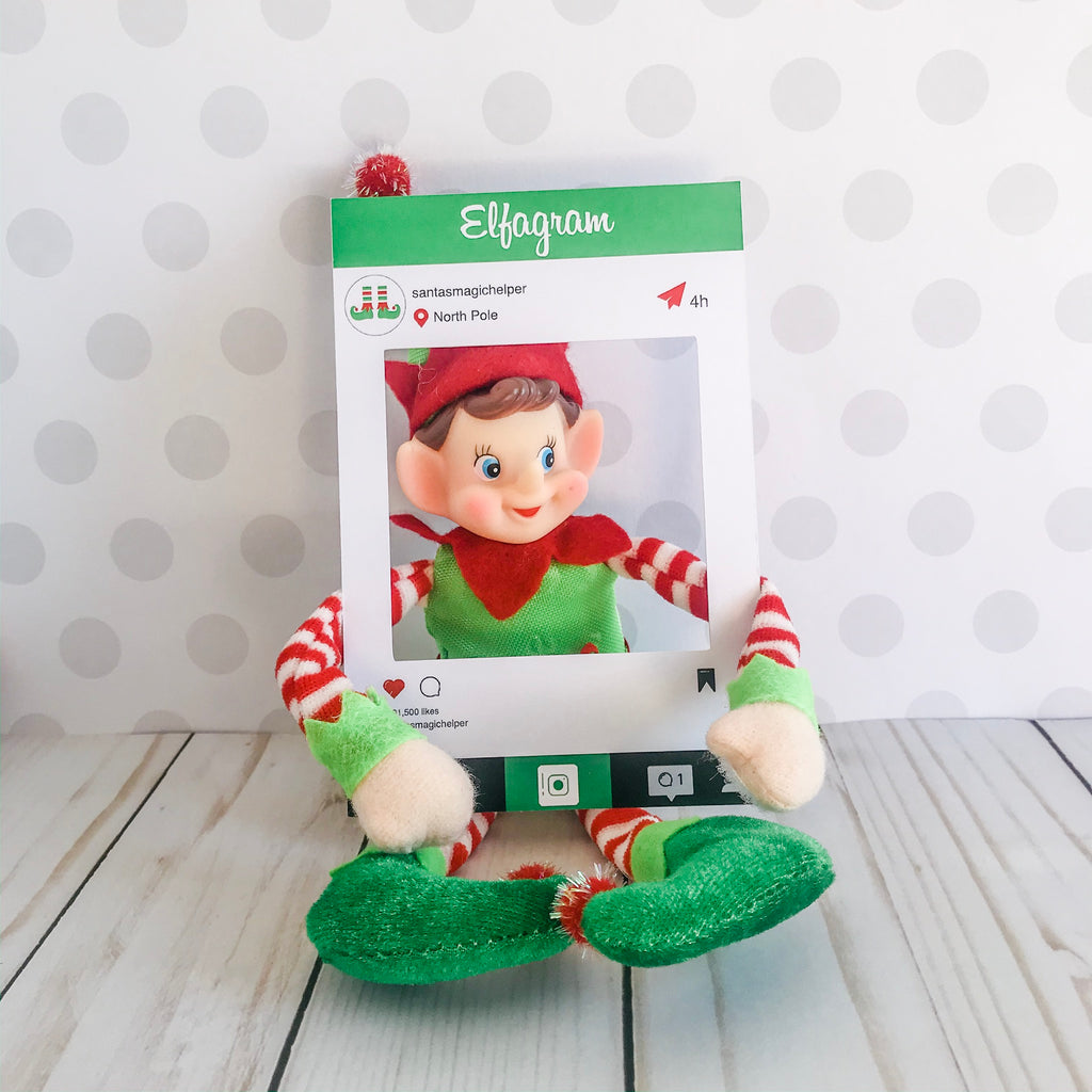 Christmas Elfagram Kit, Elf Printable, Instant Download
