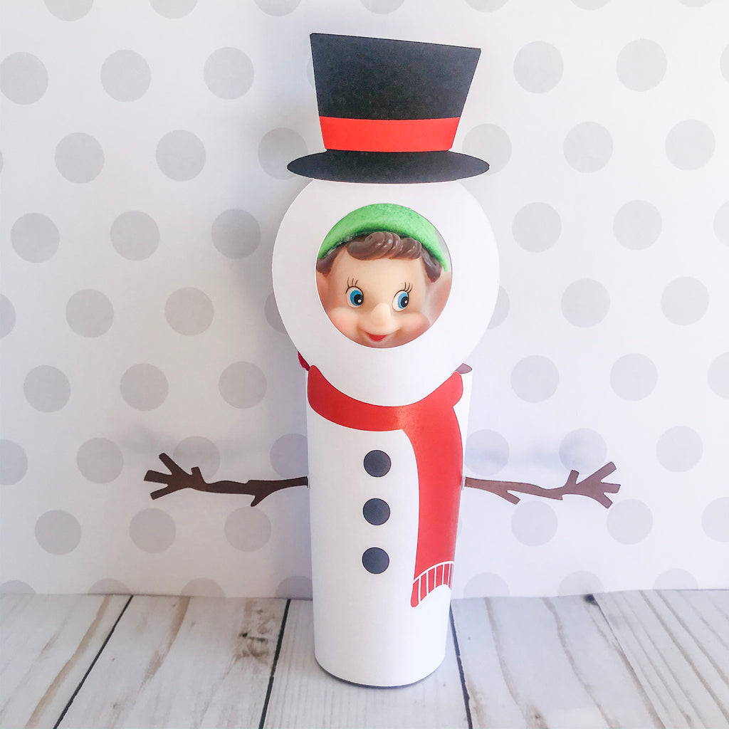 Christmas Elf Snowman, Elf Printable, Instant Download