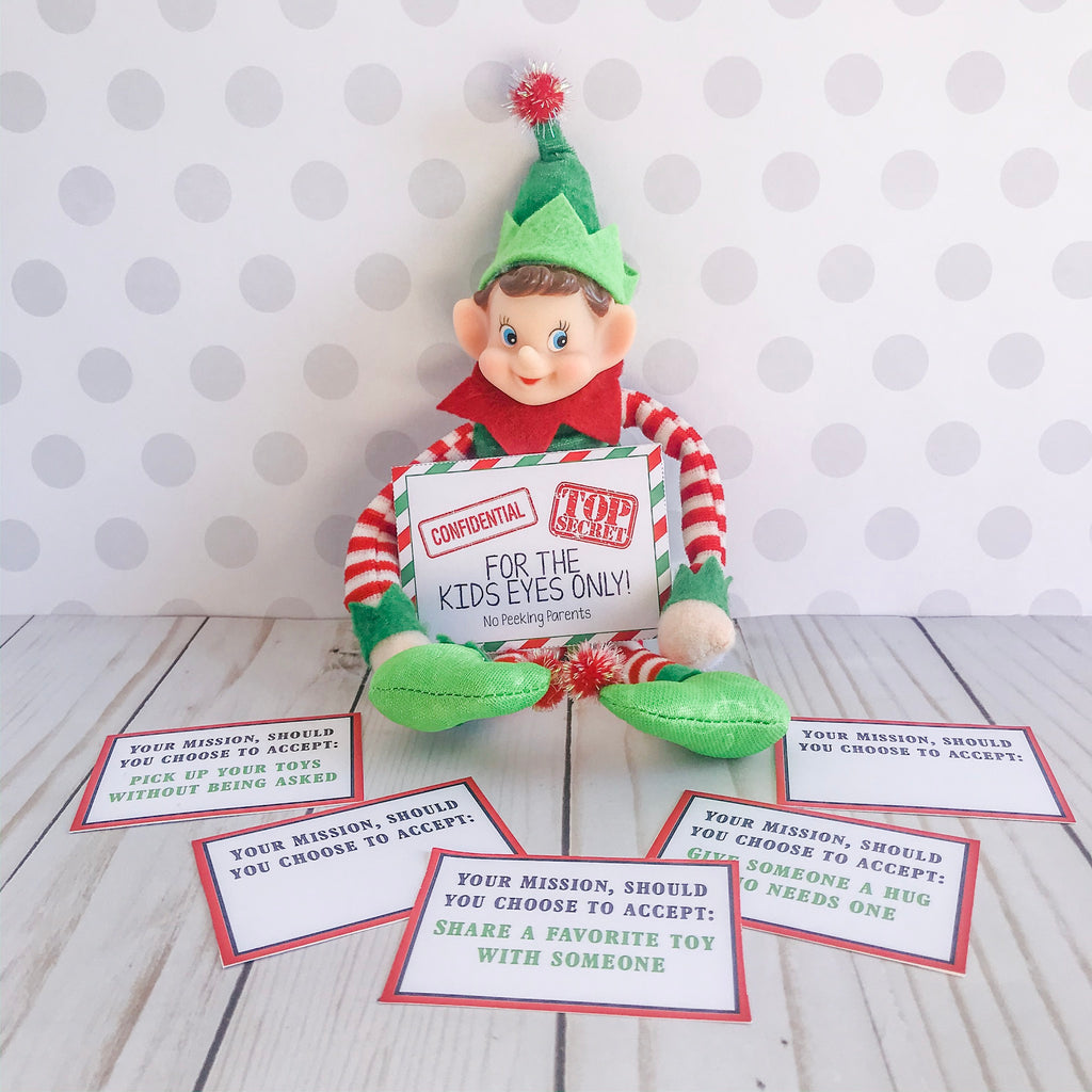 Christmas Elf Spy Kit, Elf Printable, Instant Download