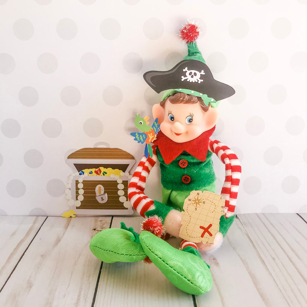 Christmas Elf Pirate Kit, Elf Printable, Instant Download