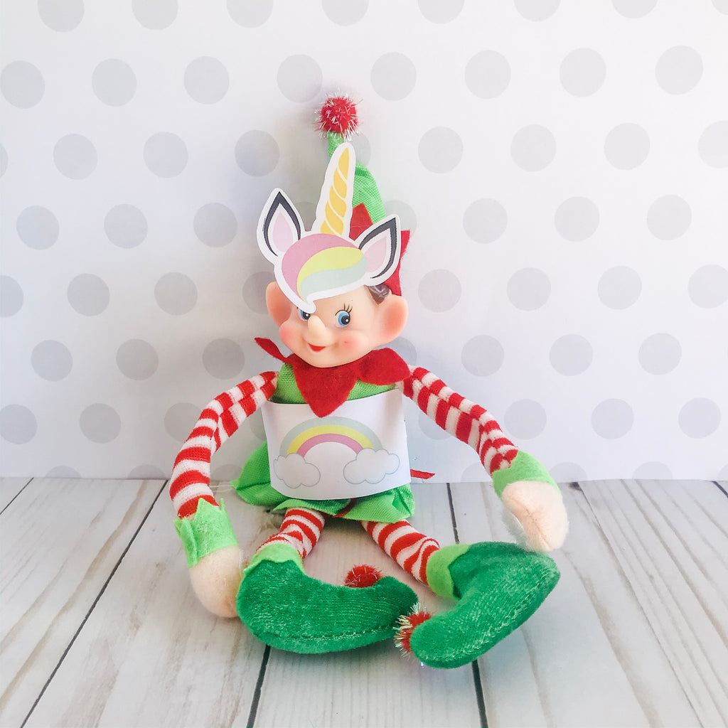 Christmas Elf Unicorn Kit, Elf Printable, Instant Download