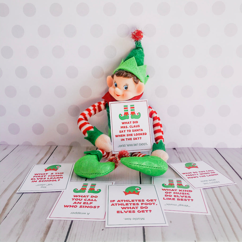 Christmas Elf Jokes, Elf Printable, Instant Download