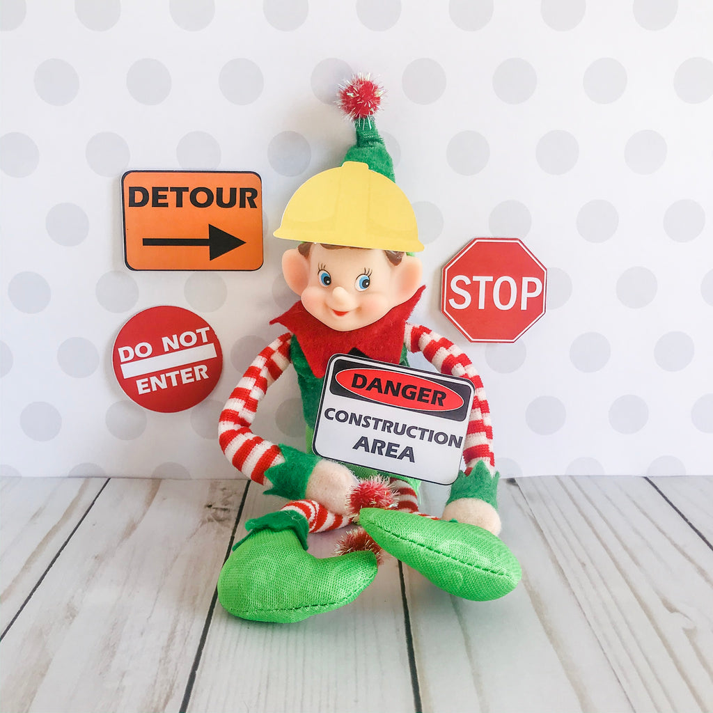 Christmas Elf Construction Kit, Elf Printable, Instant Download