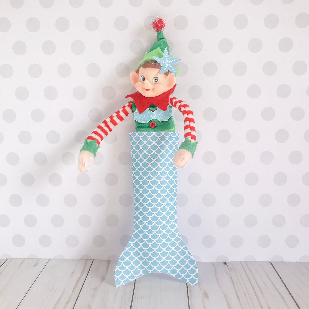 Christmas Elf Mermaid Kit, Elf Printable, Instant Download
