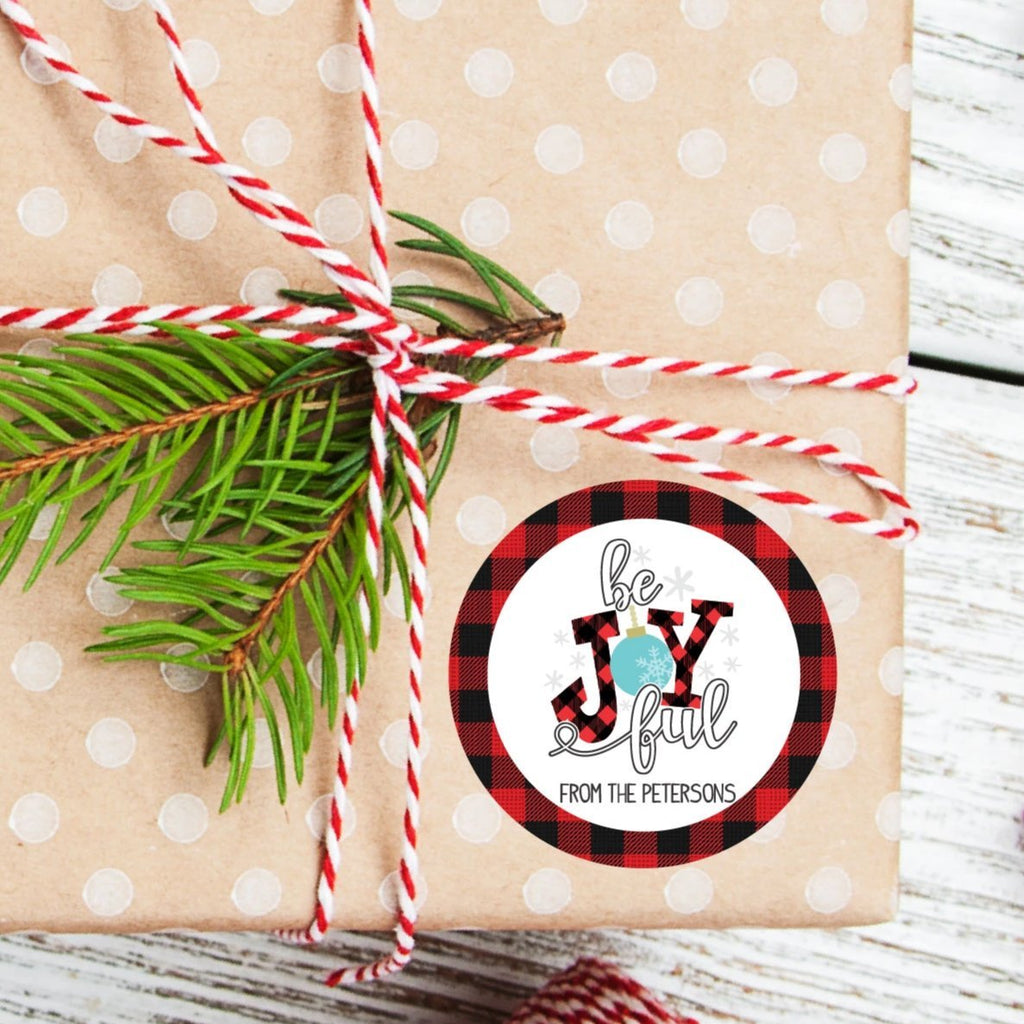 Christmas Be Joyful Favor Sticker Set 2.5"