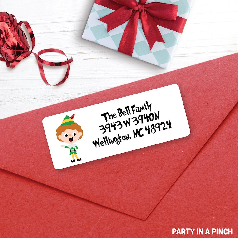 Christmas Elf Address Labels| Personalized