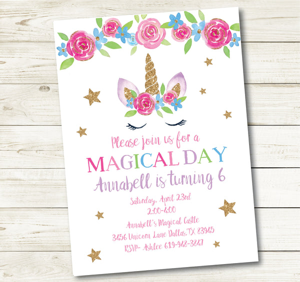 UNICORN PARTY INVITATION| UNICORN PARTY