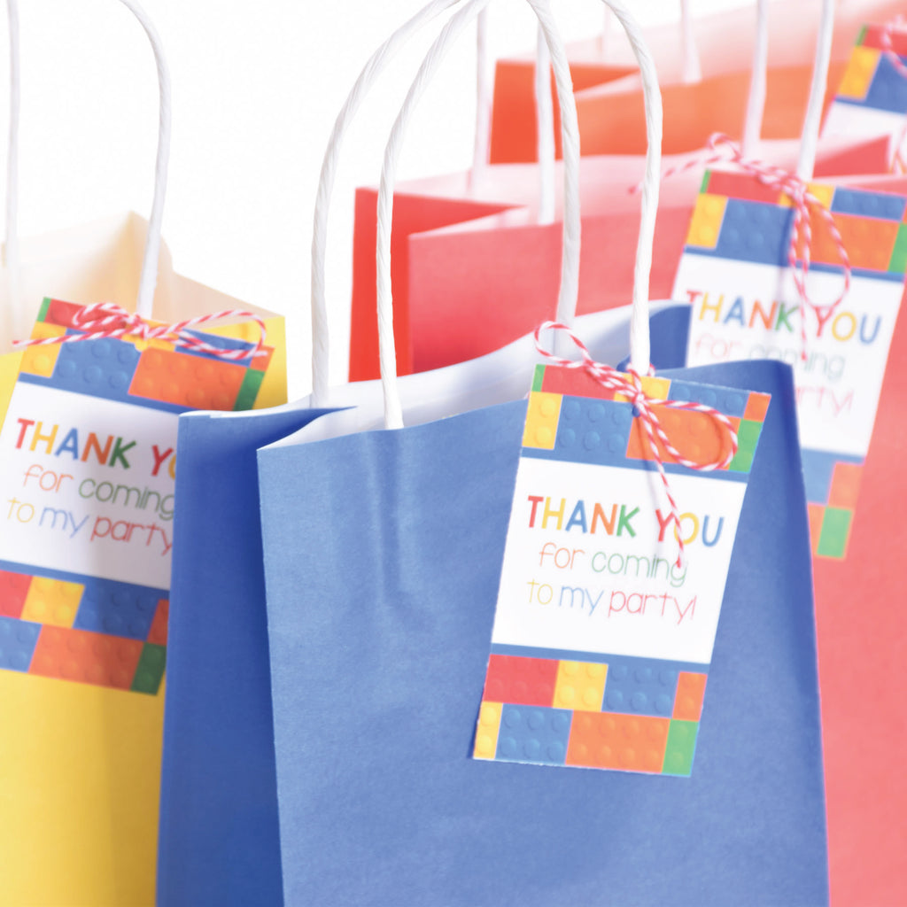 BUILDING BLOCK THANK YOU TAGS| EDITABLE| INSTANT DOWNLOAD