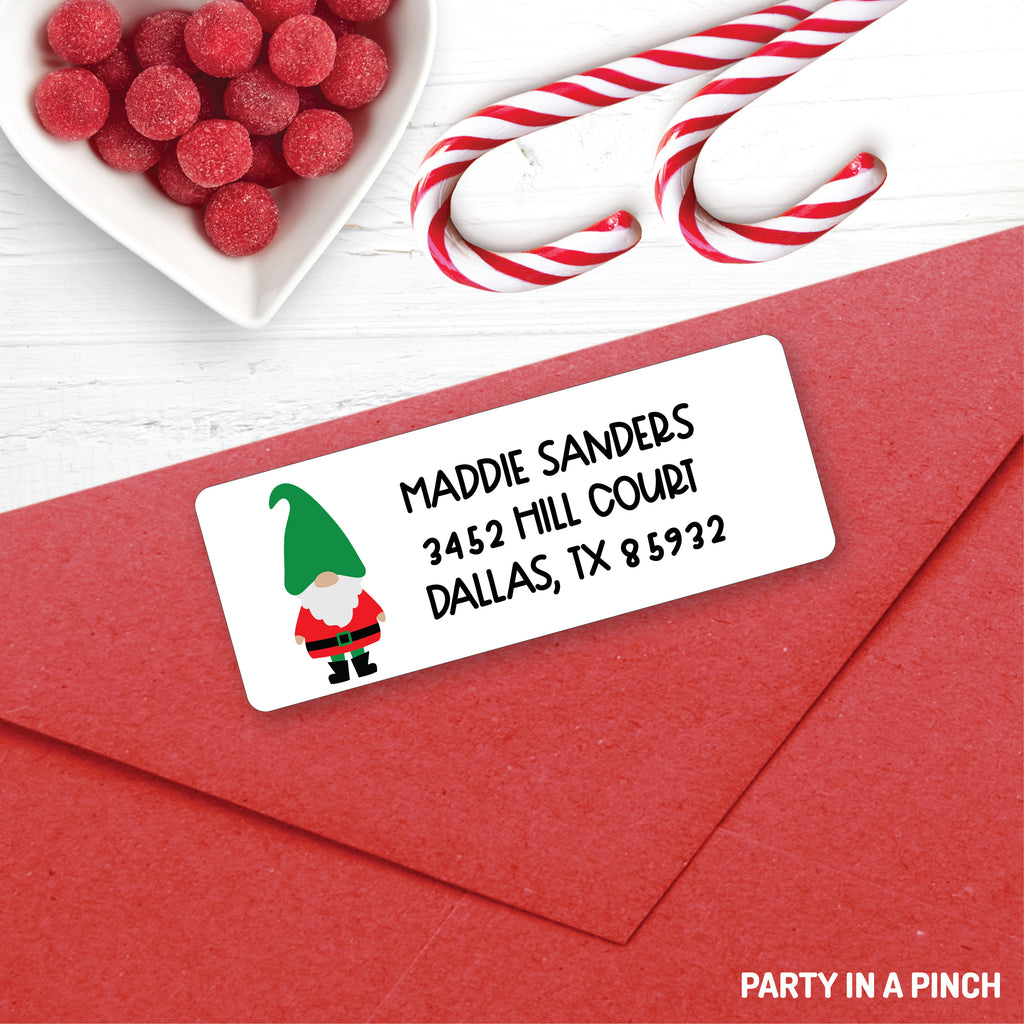 Christmas Gnome Address Labels| Personalized