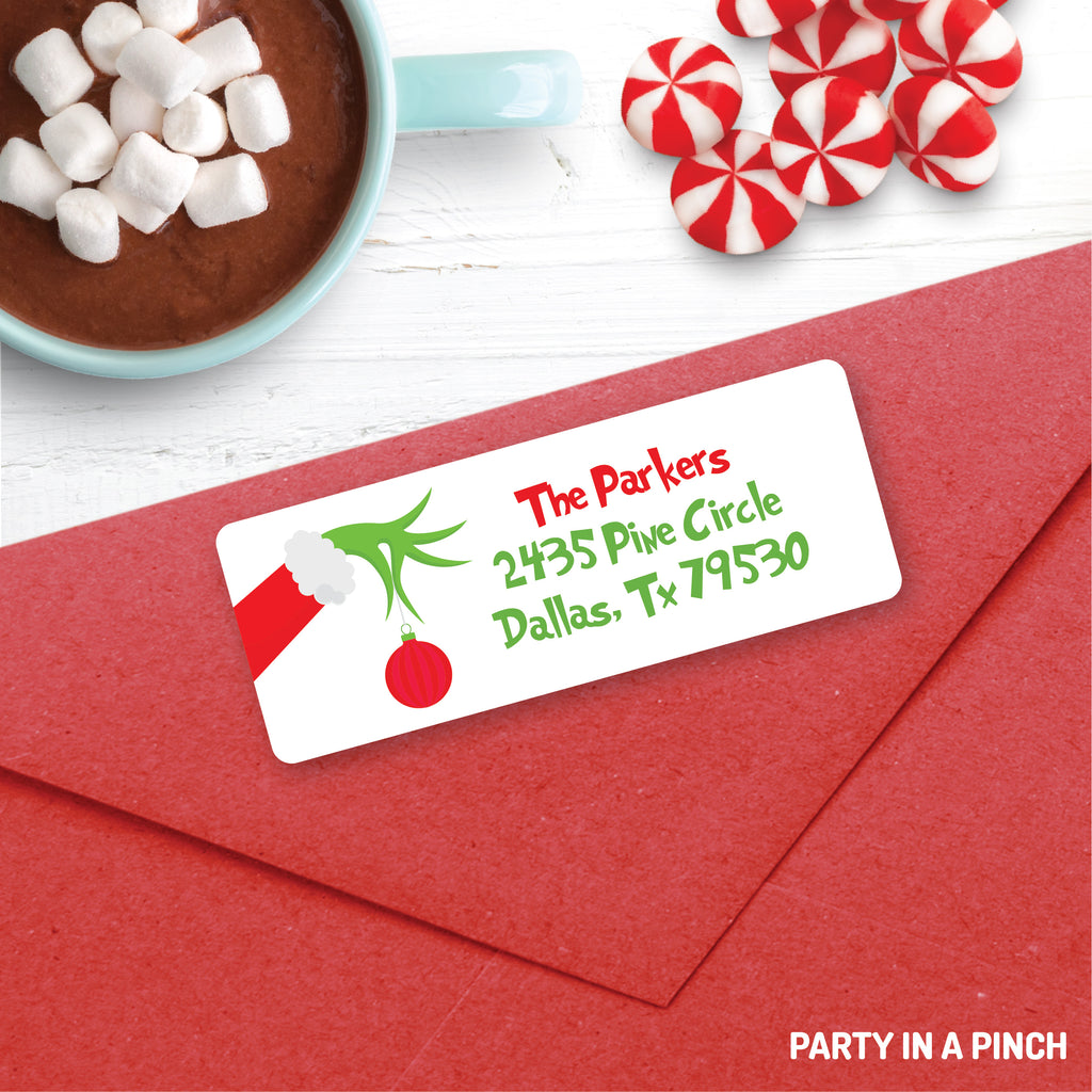 Christmas Grinch Address Labels| Personalized