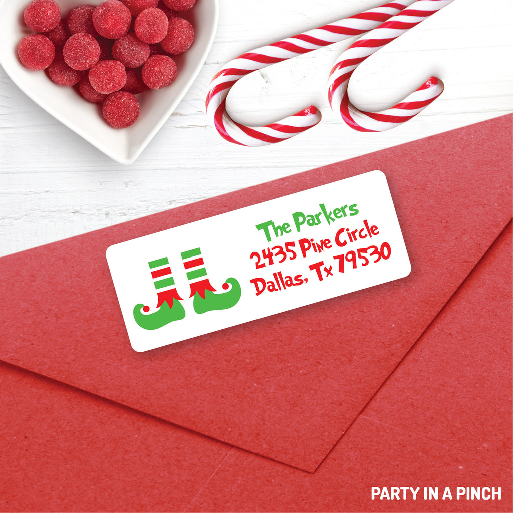 Christmas Elf Feet Address Labels| Personalized