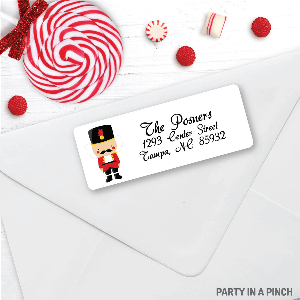 Christmas Nutcracker Address Labels| Personalized