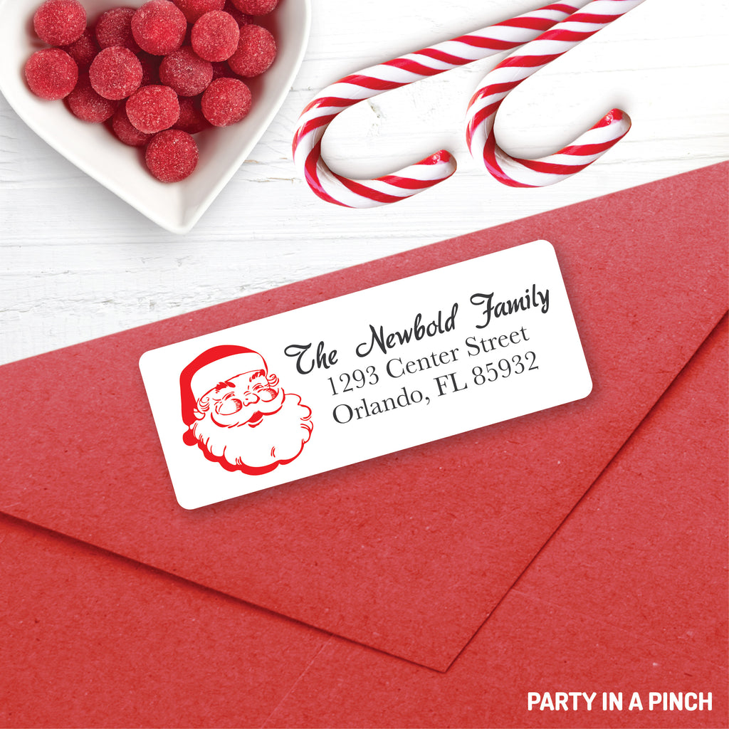 Christmas Vintaged Santa Claus Address Labels| Personalized