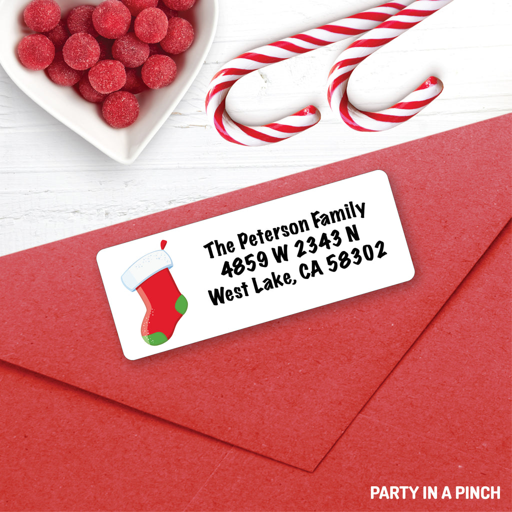 Christmas Stocking Address Labels| Personalized