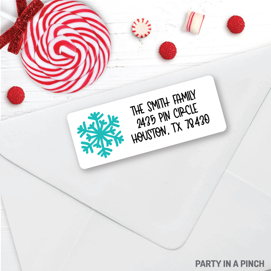 Christmas Snowflake Address Labels| Personalized