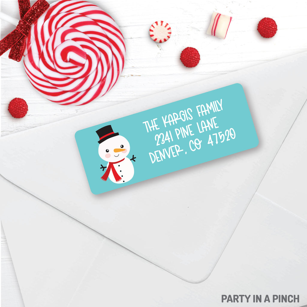 Christmas Snowman Address Labels| Personalized