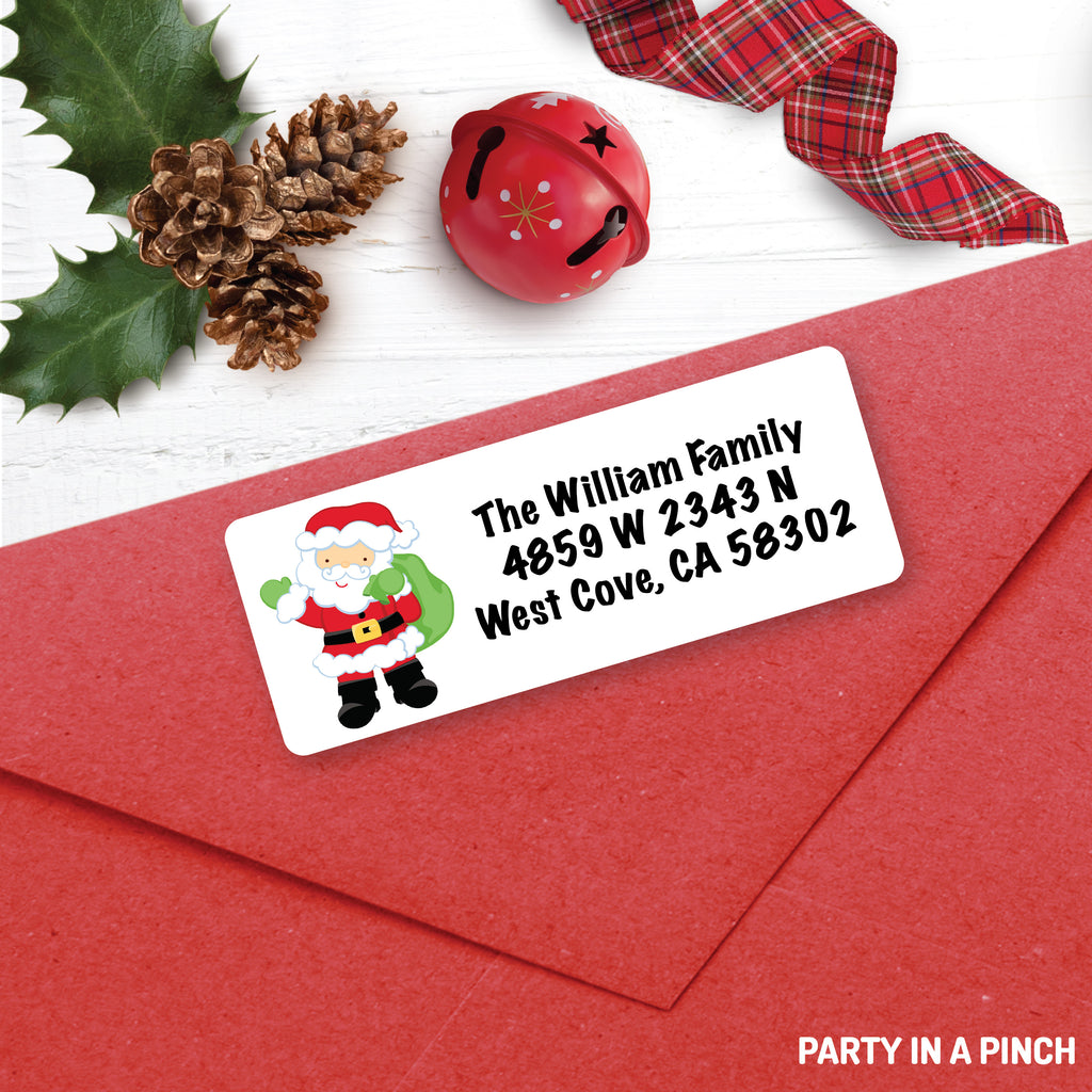 Christmas Santa Address Labels| Personalized