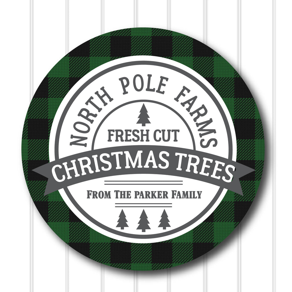 Christmas North Pole Farms Favor Stickers 2.5"