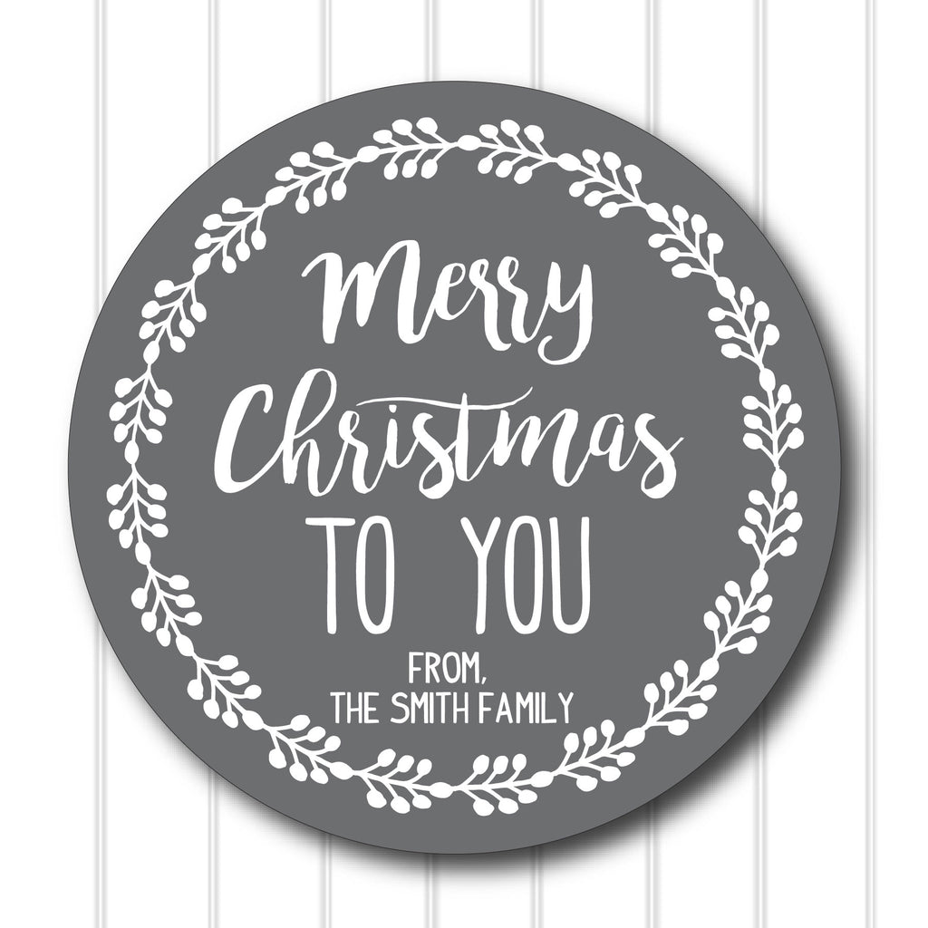 Merry Christmas To You Favor Stickers 2.5"