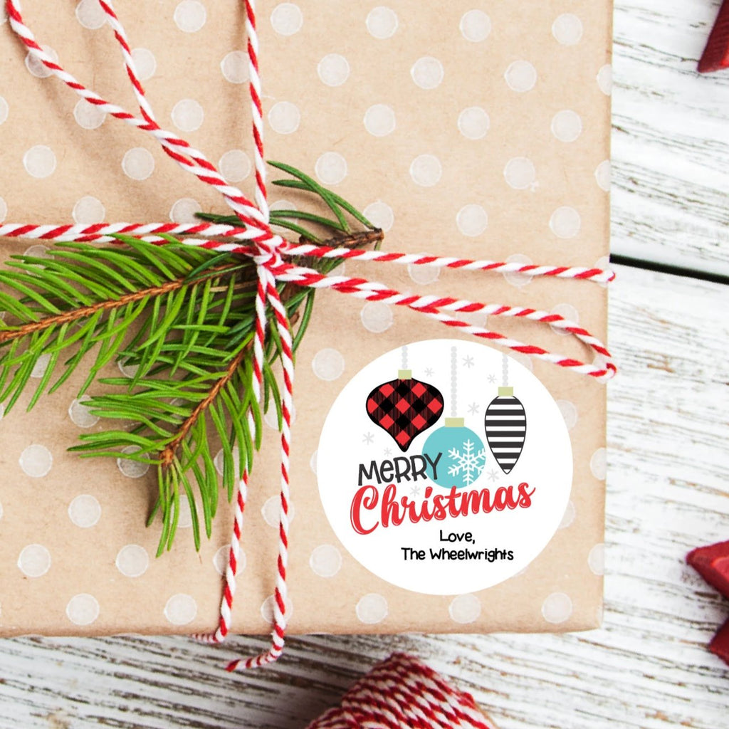 Merry Christmas Favor Sticker Set 2.5"