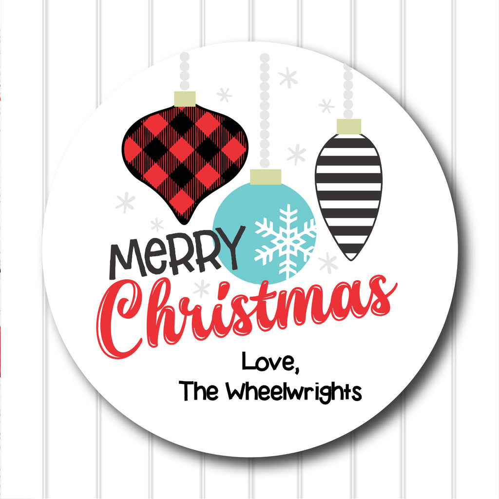 Merry Christmas Favor Stickers 2.5"