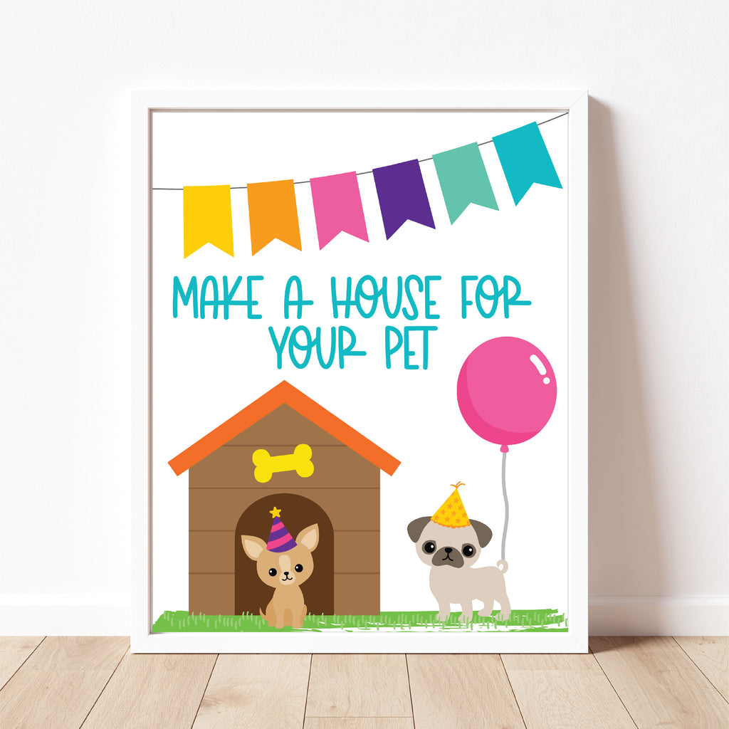 Make A Puppy House Sign| Puppy Party| Instant Download