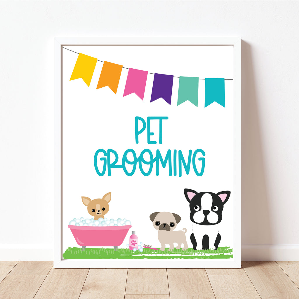 Pet Grooming Sign| Puppy Party| Instant Download