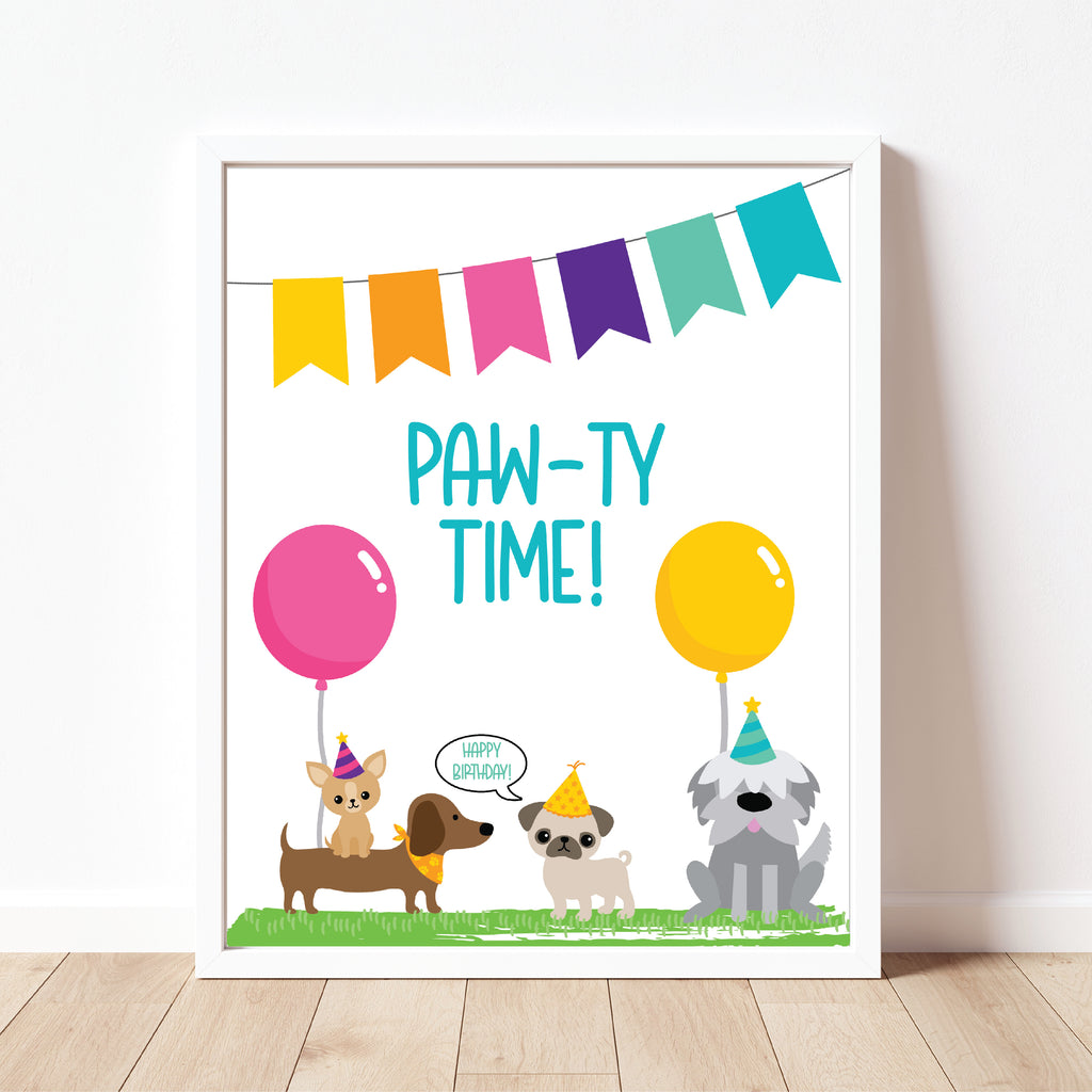 Paw-ty Sign| Puppy Party| Instant Download
