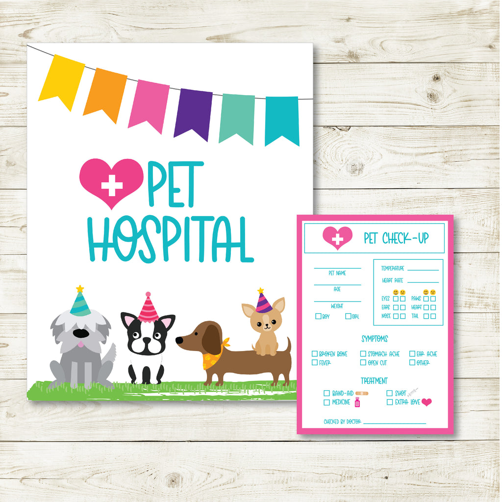 Pet Check Up And Sign| Puppy Party| Instant Download