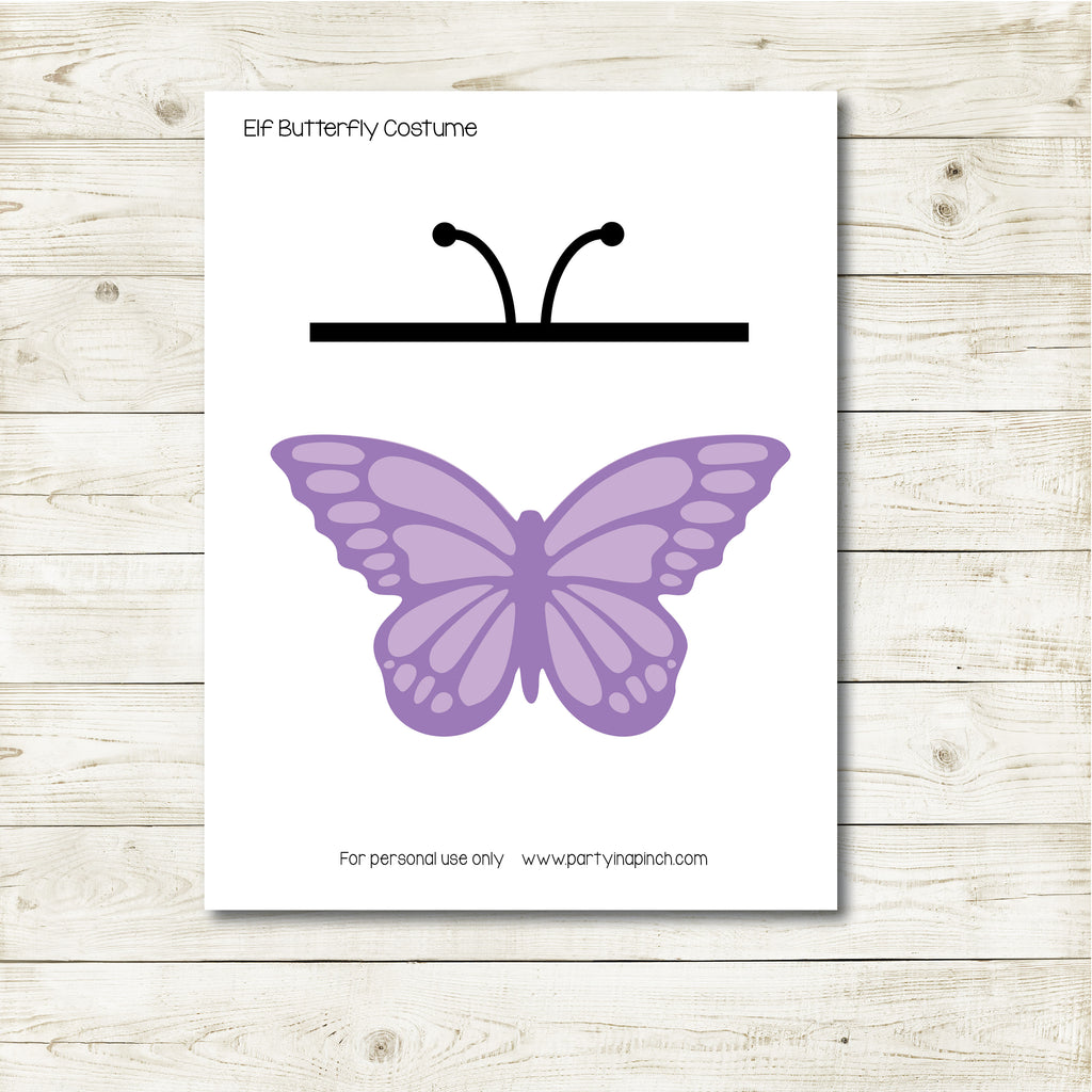 Christmas Elf Butterfly Kit, Elf Printable, Instant Download