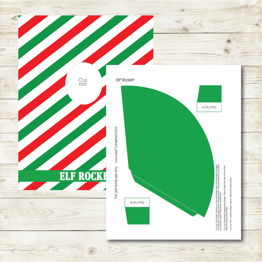 Christmas Elf Rocket, Elf Printable, Instant Download