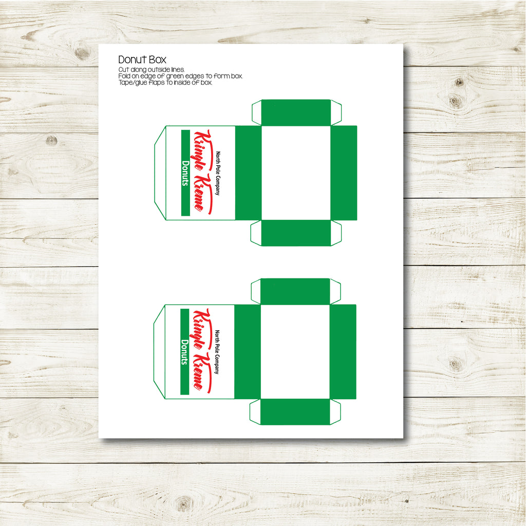 Christmas Elf Donut Box Kit, Elf Printable, Instant Download
