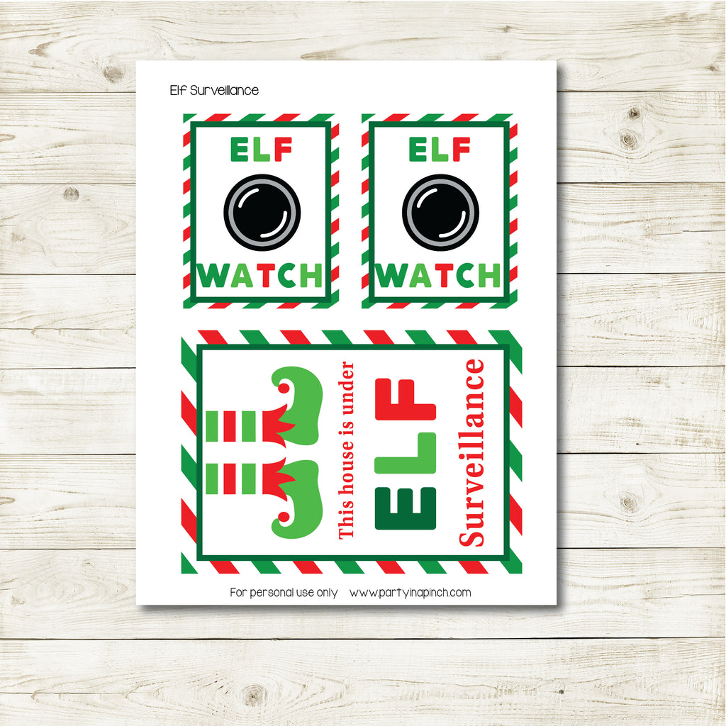 Christmas Elf Watch Kit, Elf Printable, Instant Download