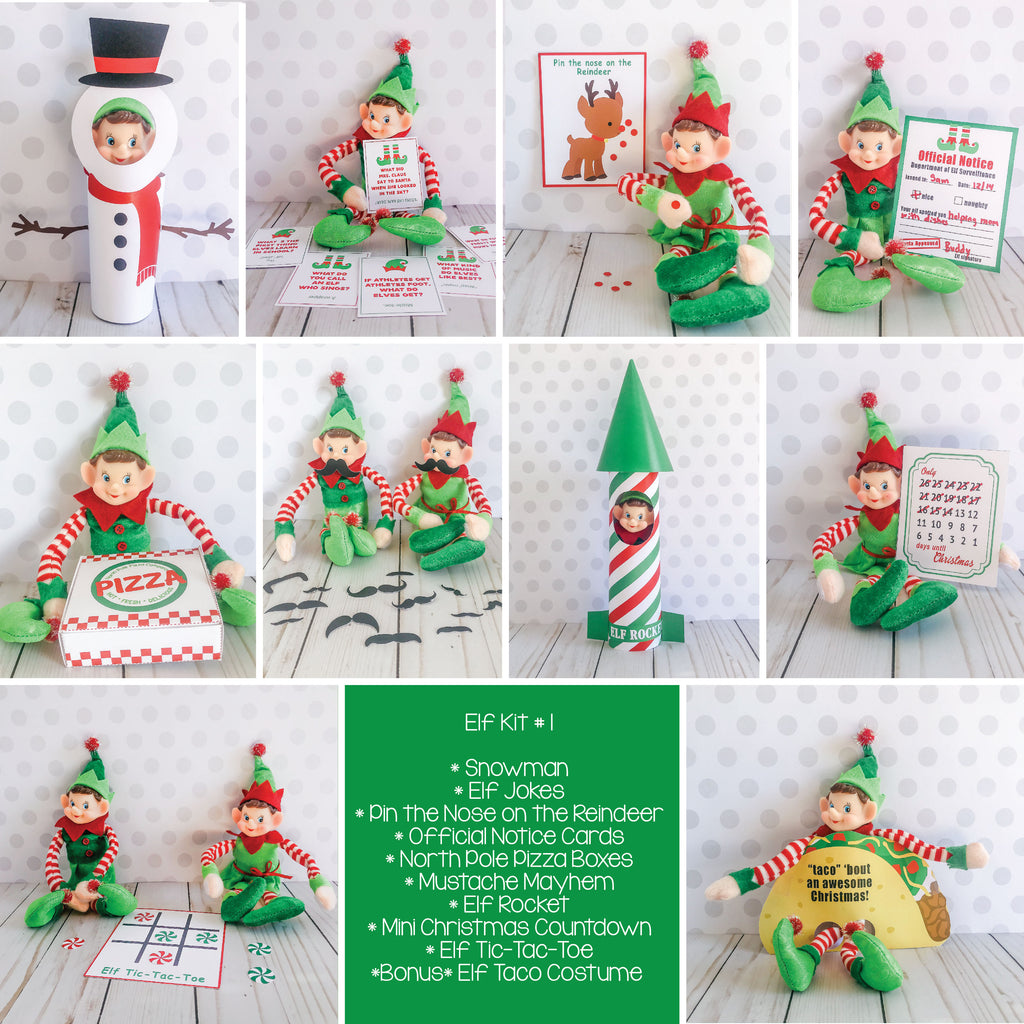 Christmas Elf Kit #1, Elf Printable, Instant Download