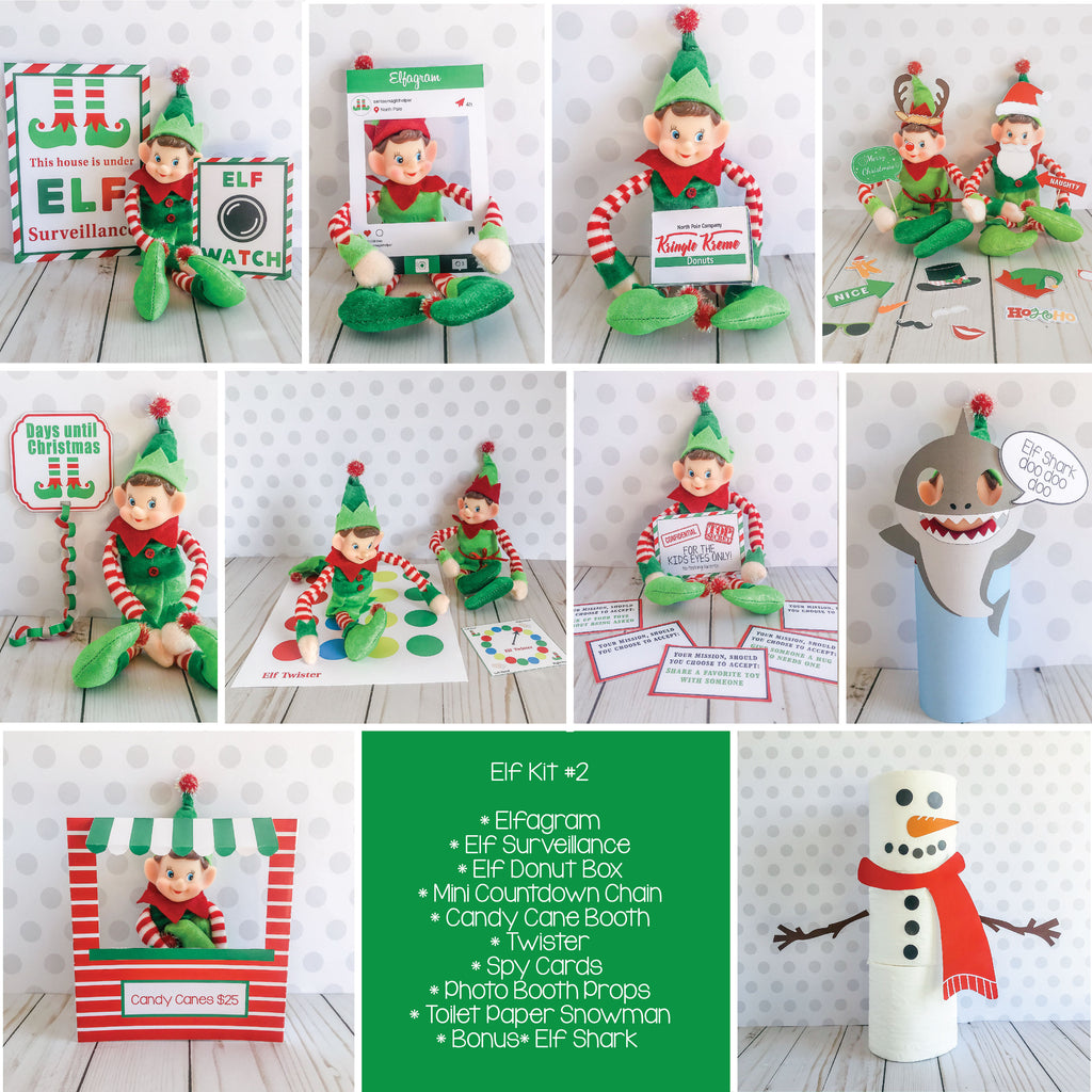 Christmas Elf Kit #2, Elf Printable, Instant Download