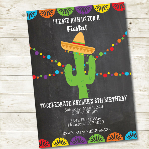 FIESTA PARTY INVITATION CHALKBOARD| FIESTA PARTY
