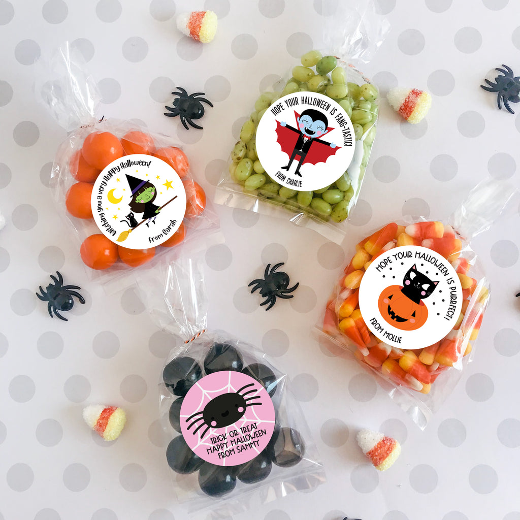 Blue Monster Halloween Favor Stickers
