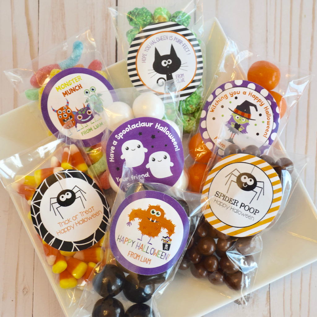 Candy Corn Halloween Favor Stickers