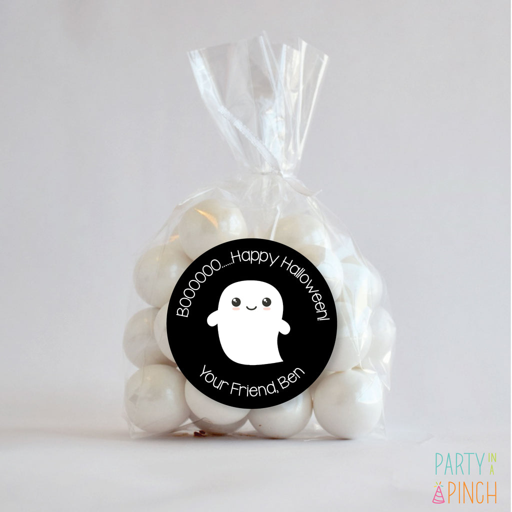 Boo Ghost Halloween Favor Stickers| 2.5 Stickers
