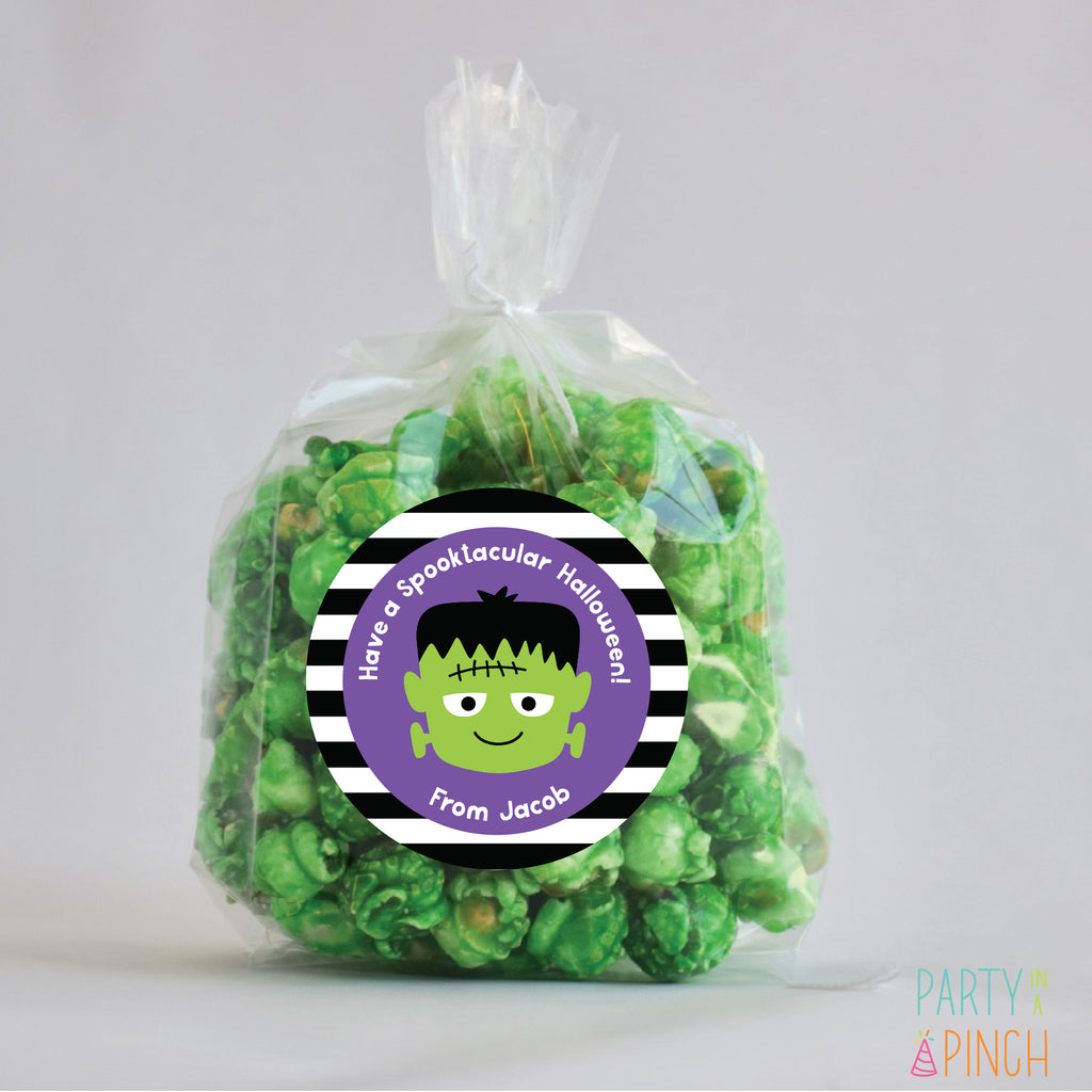 Frankenstein Halloween Favor Stickers