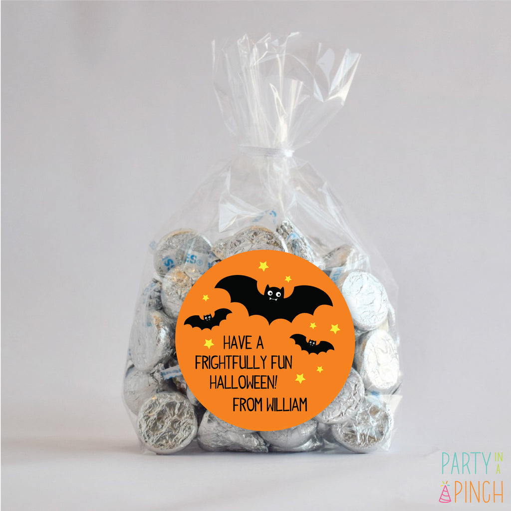 Frightfully Fun Bat Halloween Favor Stickers