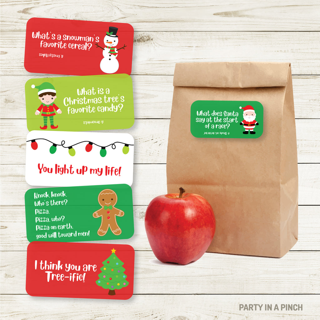 Christmas Lunchbox Stickers| Lunch Notes